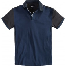 North 56°4 Cotton Contrasting Polo Top Petrol 2XL To 8XL