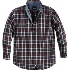 North 56°4 Cotton Rust Check Shirt 2XL To 7XL