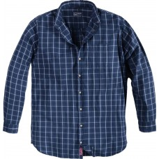 North 56°4 Cotton Navy Check Shirt 2XL To 8XL