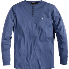 North 56°4 Replika Pure Cotton Grandad Tee Blue 2XL To 8XL