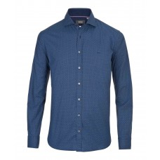 Brax Harrold Pattern Shirt In Navy - Up To 5XL
