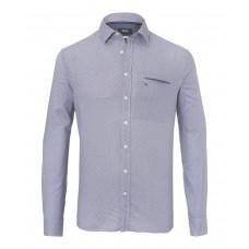 Brax Kolja Pattern Shirt In Grey - Up To 3XL