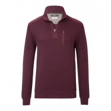 Brax Siro Zip Sweatshirt Plum - Up To 6XL