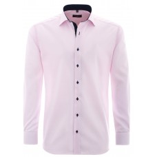 Eterna Comfort Fit Contrasting Pink Shirt