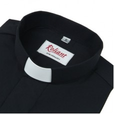"Reliant Clerical Short Sleeve Shirt - 1"" Slip In Collar"