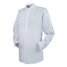 Reliant Clerical Front Fastening Tunic Shirt Long Sleeve Double Cuff Shirt