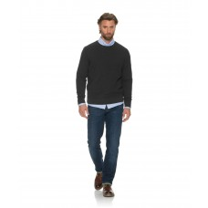 Brax Roy Charcoal Cotton Wool Crew Neck