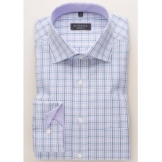 Eterna Comfort Fit Long Sleeve Shirt Lilac Plaid