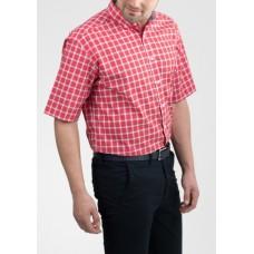 Eterna Red Check Short Sleeve Shirt