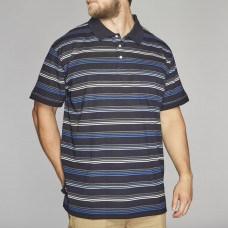North 56°4 Cotton Stripped Polo Top Navy 2XL To 8XL