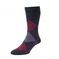 HJ Hall Softop Socks Patterned - Black