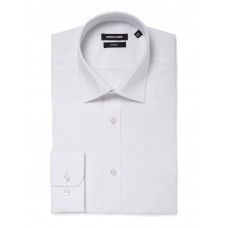 Remus Uomo Plain White Relaxed Fit Shirt