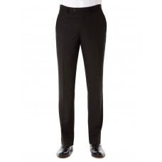 Remus Uomo Straight Leg Trouser - Black